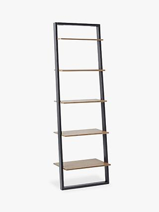 west elm Wide Ladder Shelving Unit, Sandstone/Shale