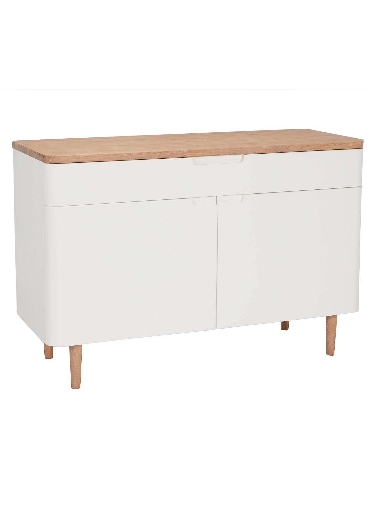 Ebbe Gehl for John Lewis Mira Small Sideboard, White Oak at John Lewis& Partners