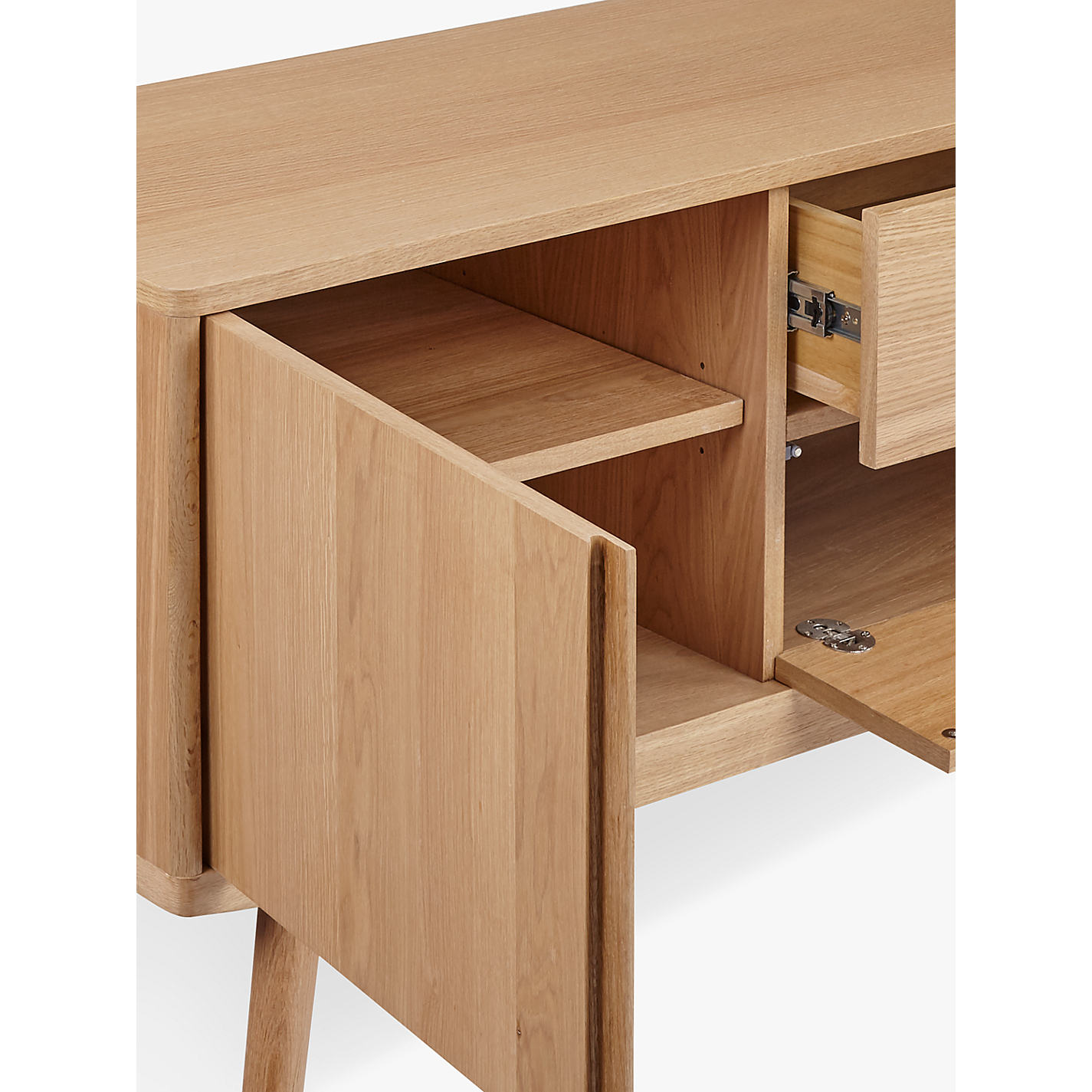 Buy House By John Lewis Bow Tv Stand Sideboard For Tvs Up To 65  # Table Tv Simple A Petit Prix