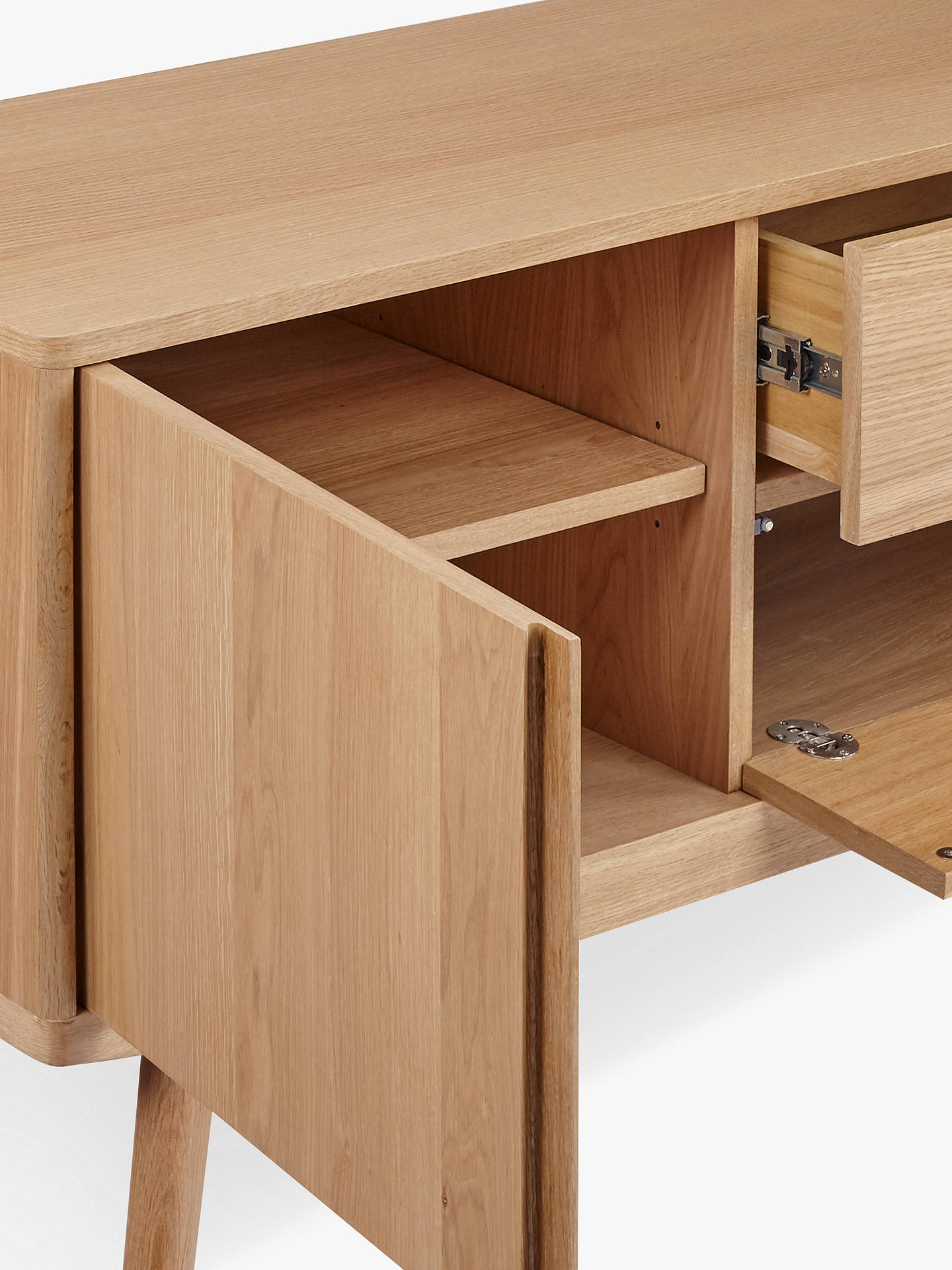 house by john lewis bow tv stand sideboard for tvs up to. Black Bedroom Furniture Sets. Home Design Ideas