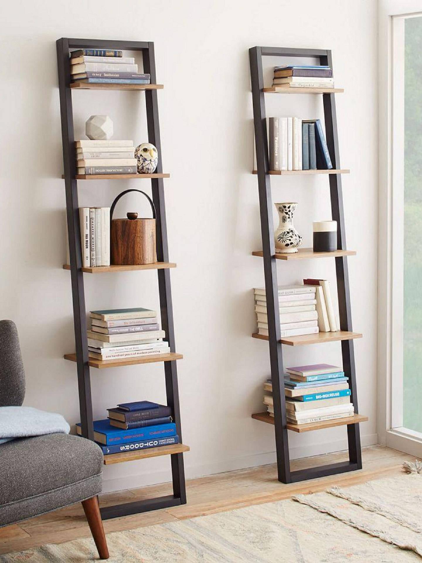 quality design 7eee8 963f7 west elm Mid-Century Narrow Ladder Wood Shelving Unit ...