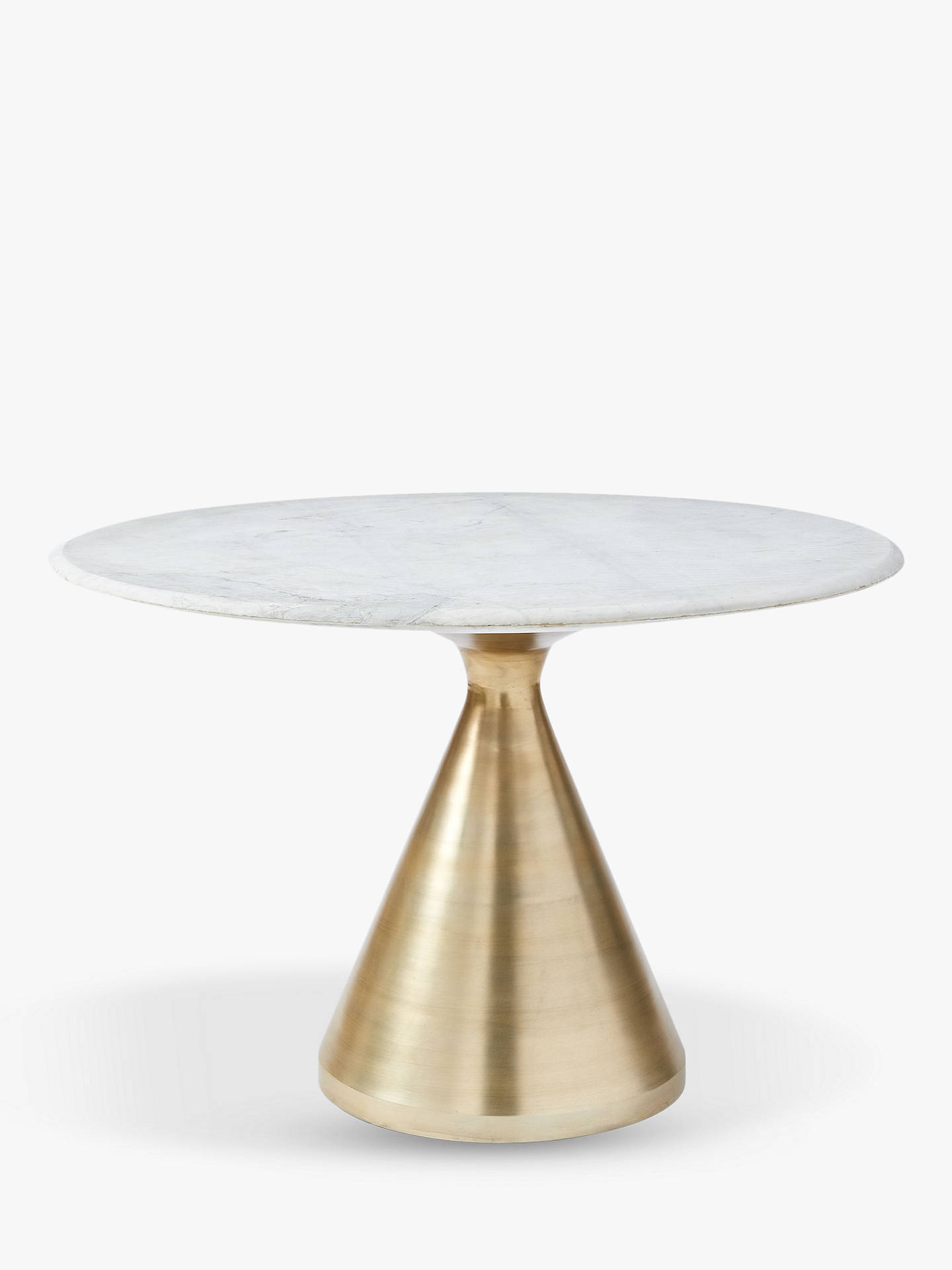 John Lewis & west elm Silhouette Marble 4 Seater Pedestal Dining Table Bronze
