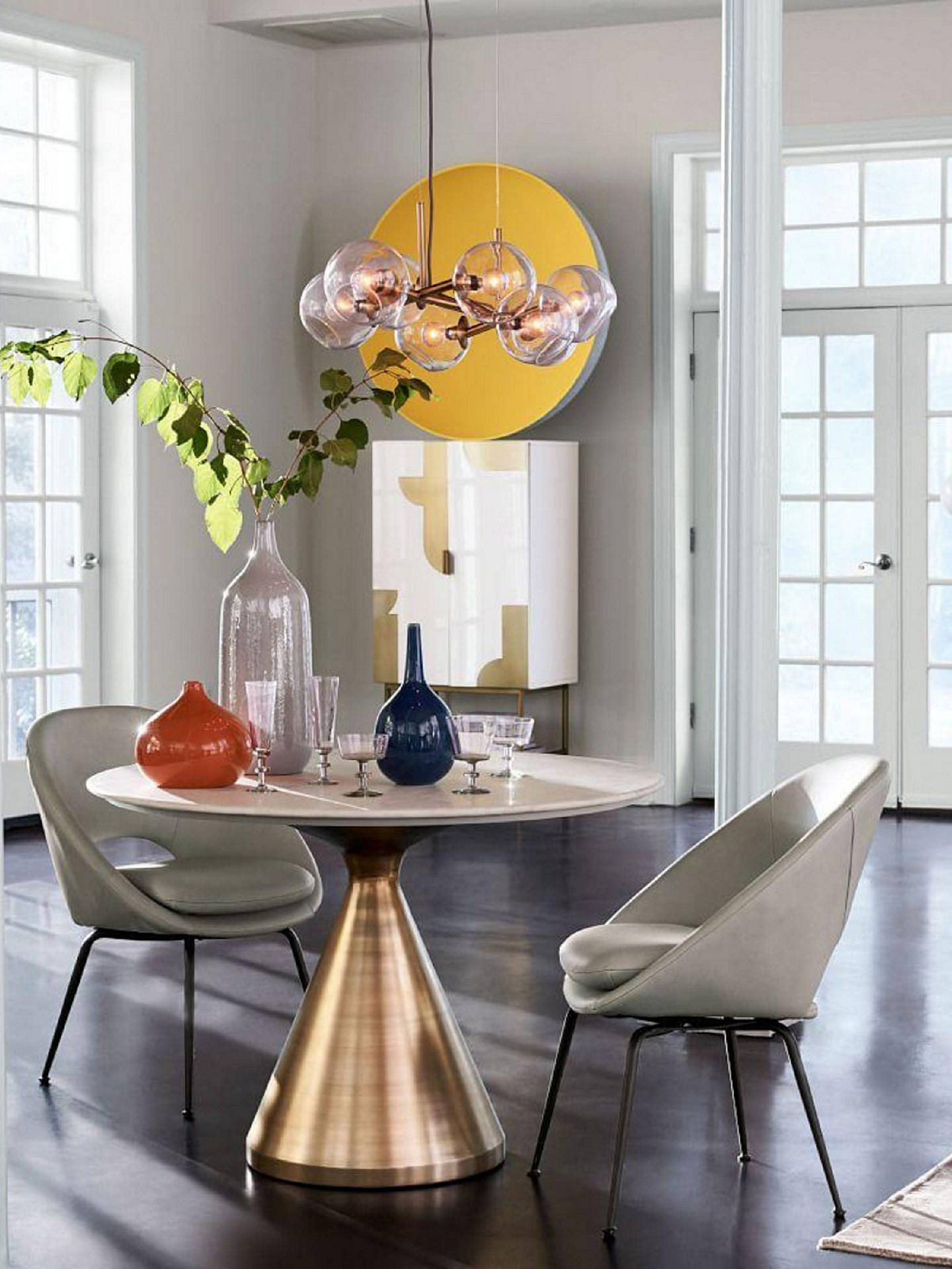 west elm dining room | west elm Silhouette Marble 4 Seater Pedestal Dining Table ...
