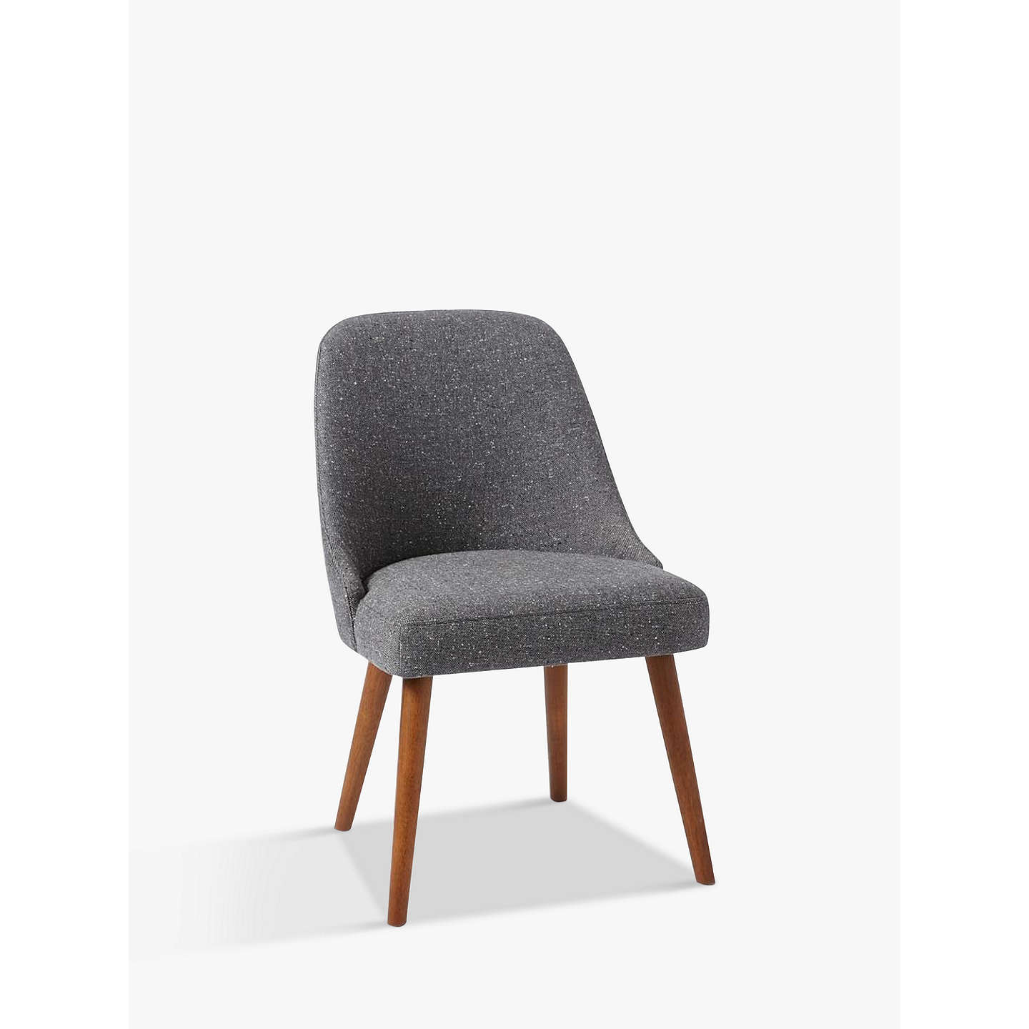 Buywest Elm Mid Century Dining Chair, Salt And Pepper Tweed Online At  Johnlewis.
