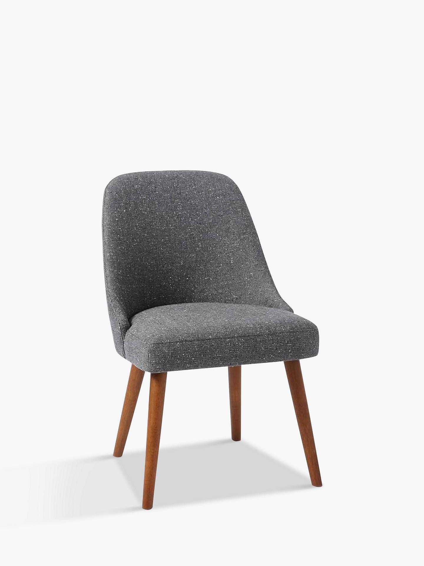 West Elm Mid Century Dining Chair Salt And Pepper Tweed Online At Johnlewis