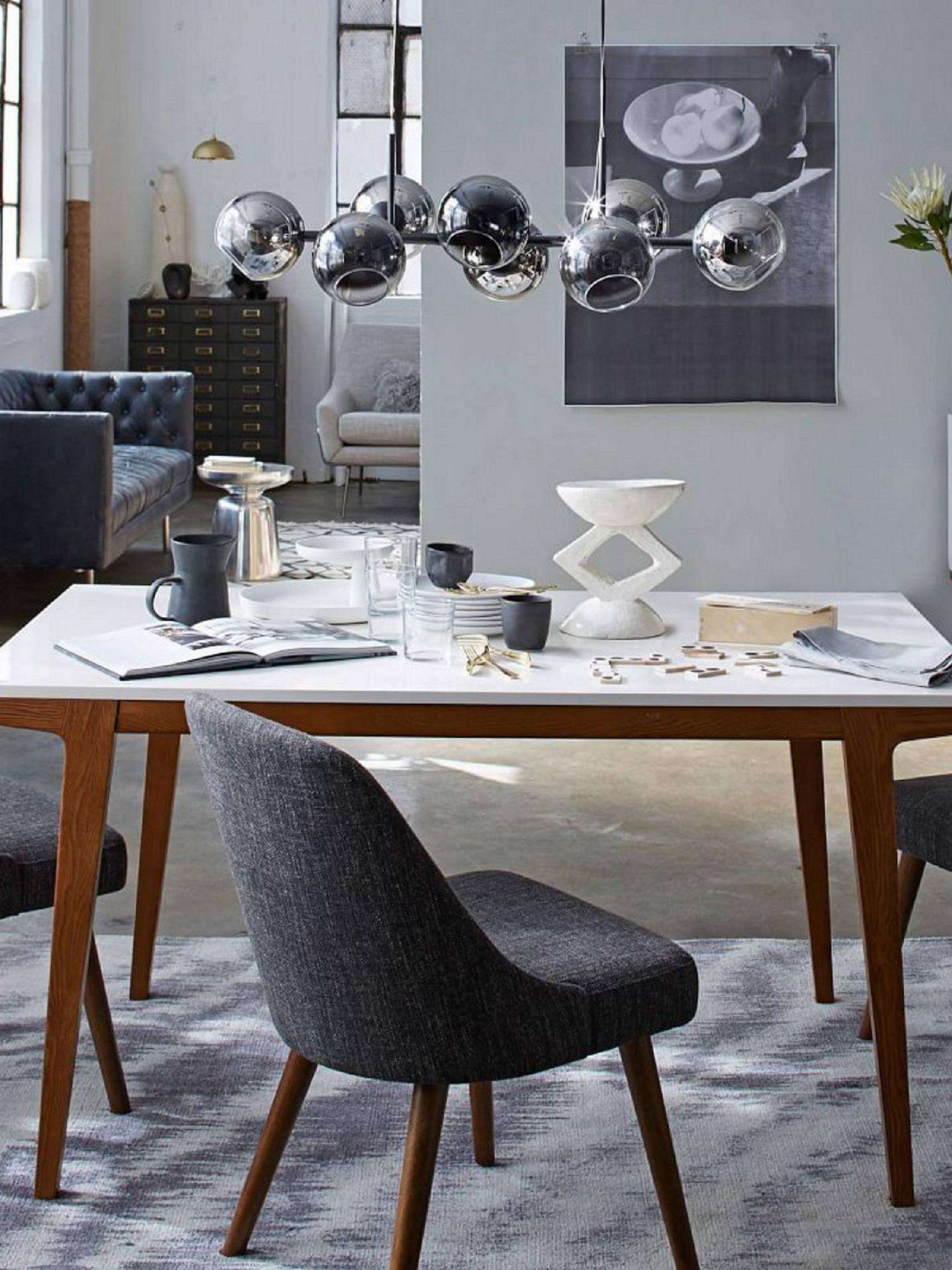 west elm mid century dining chair at john lewis partners. Black Bedroom Furniture Sets. Home Design Ideas