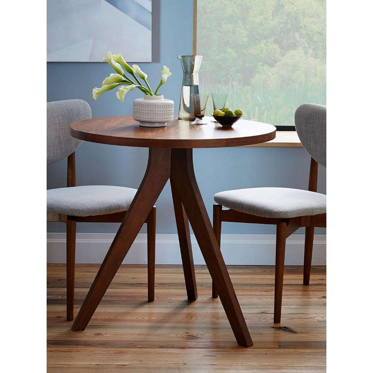 west elm Tripod Round 2 Seater Dining Table at John Lewis