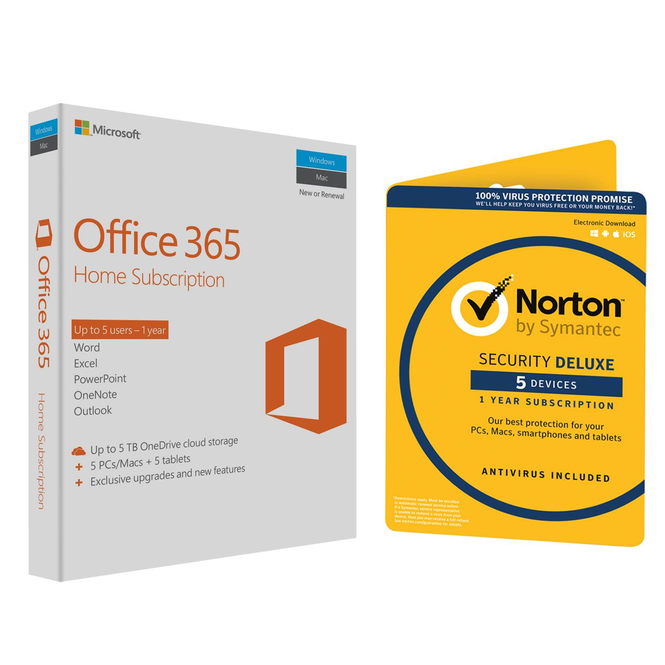 Microsoft Office 365 Home Premium 5 PCs/Macs and Tablet One-Year ...