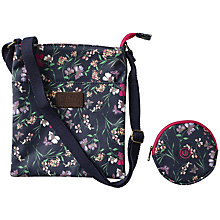 Buy Fat Face Girls' Floral Bag and Purse, Navy Online at johnlewis.com