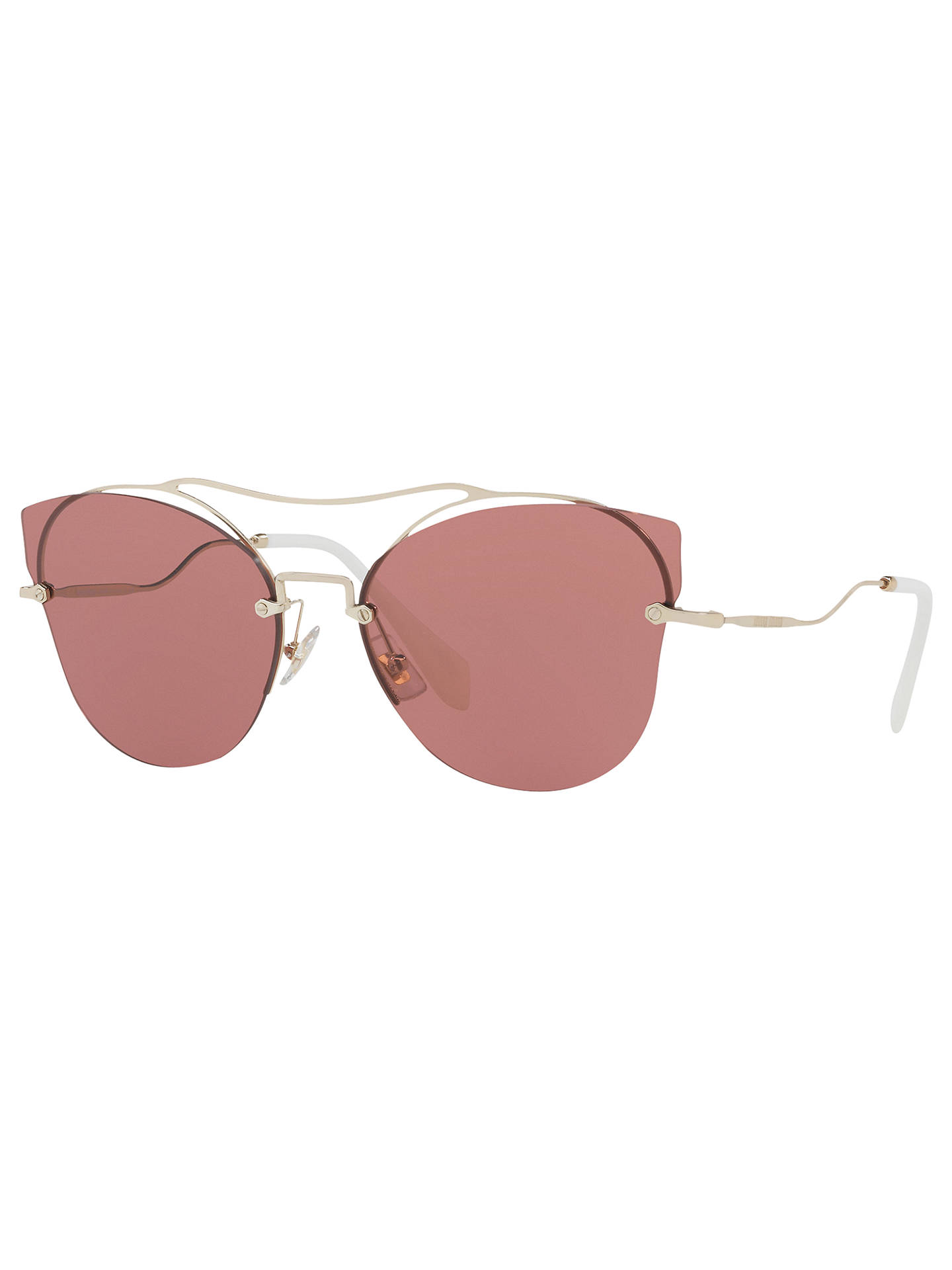 38634ef55ce Miu Miu MU 52SS Cat s Eye Sunglasses at John Lewis   Partners