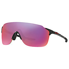 Buy Oakley OO9386 EVZero Stride Rectangular Sunglasses, Matte Black/Red Iridium Online at johnlewis.com