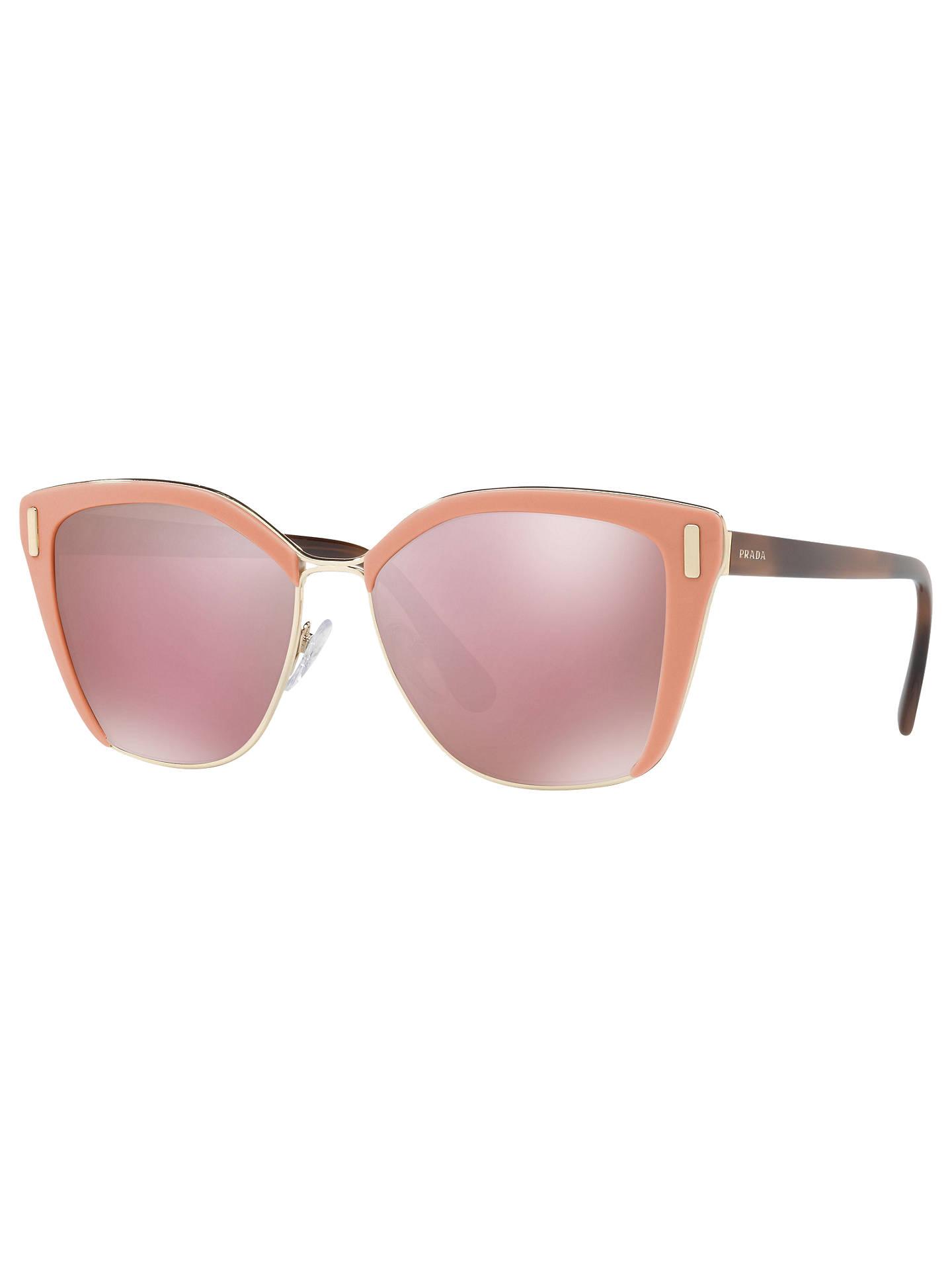 2a1eae1bdae0 Buy Prada PR 56TS Square Sunglasses, Pink/Mirror Rose Online at  johnlewis.com ...