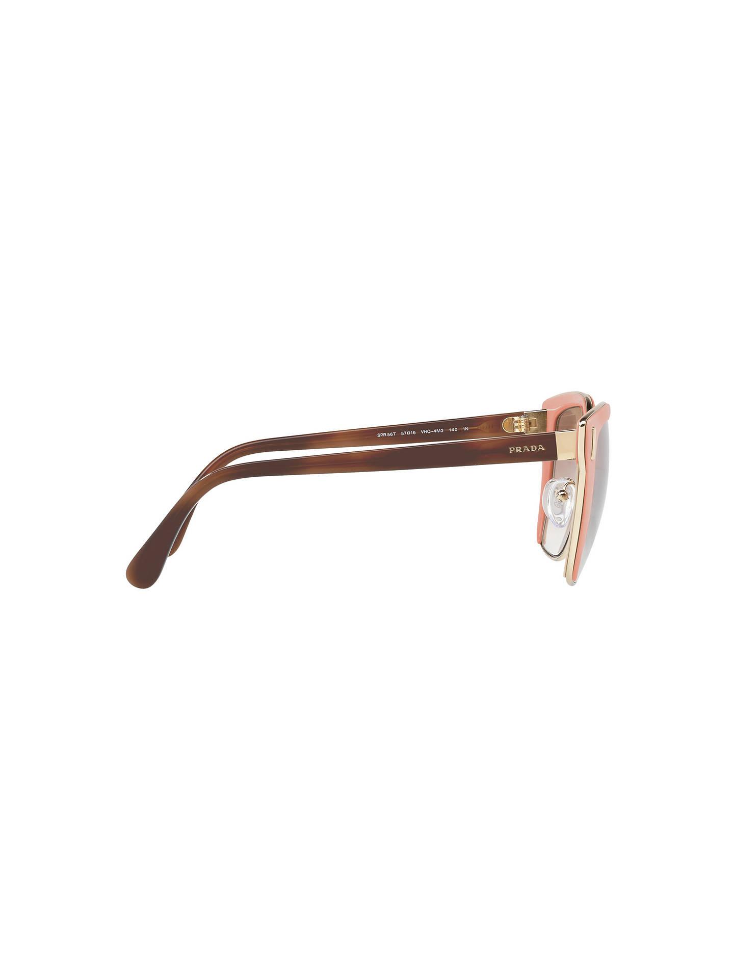 2c2815ca446e7 ... discount buyprada pr 56ts square sunglasses pink mirror rose online at  johnlewis 9eeb8 7abaa