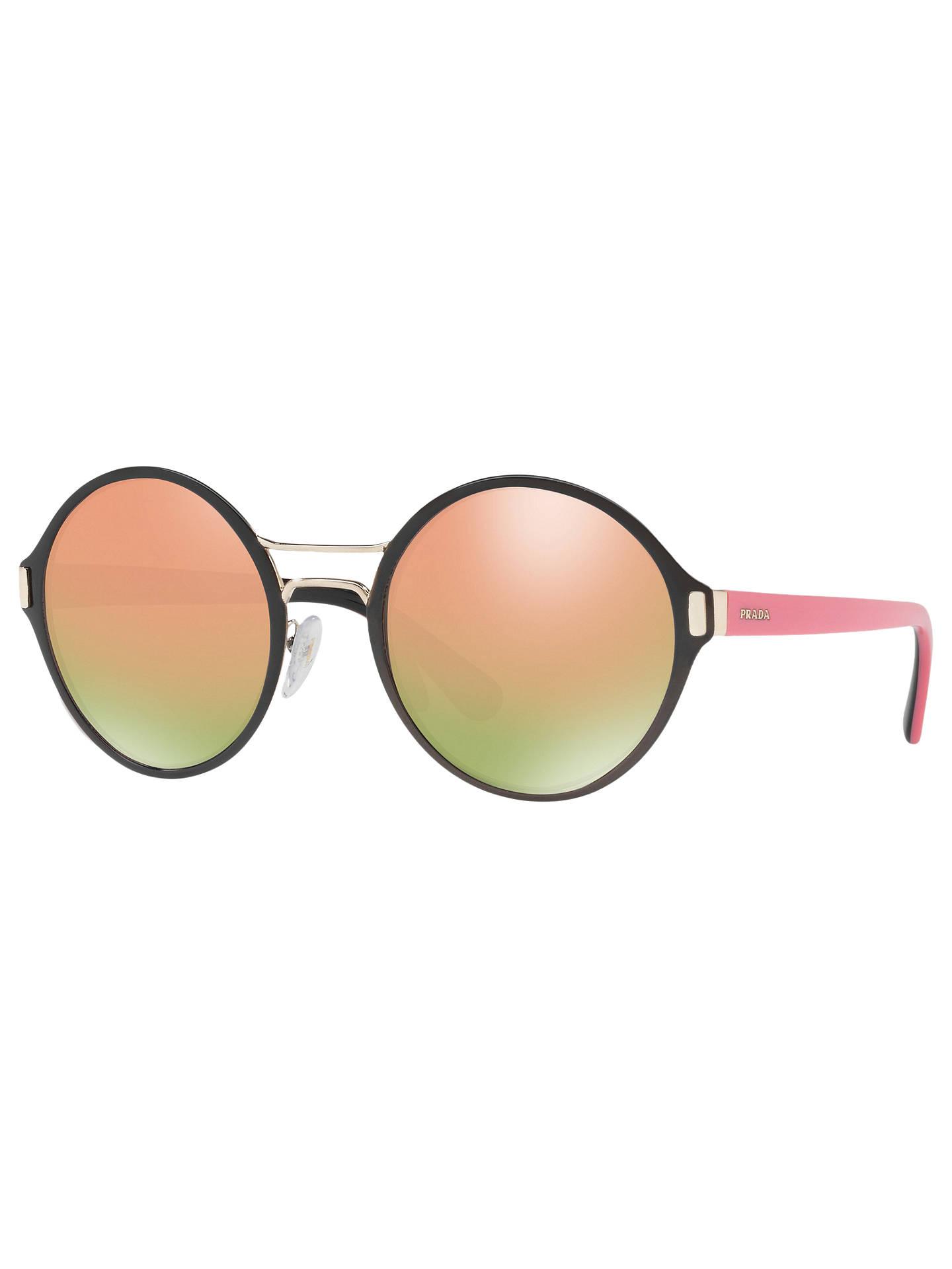 eaad9141d0c7d Prada PR 57TS Round Sunglasses at John Lewis   Partners