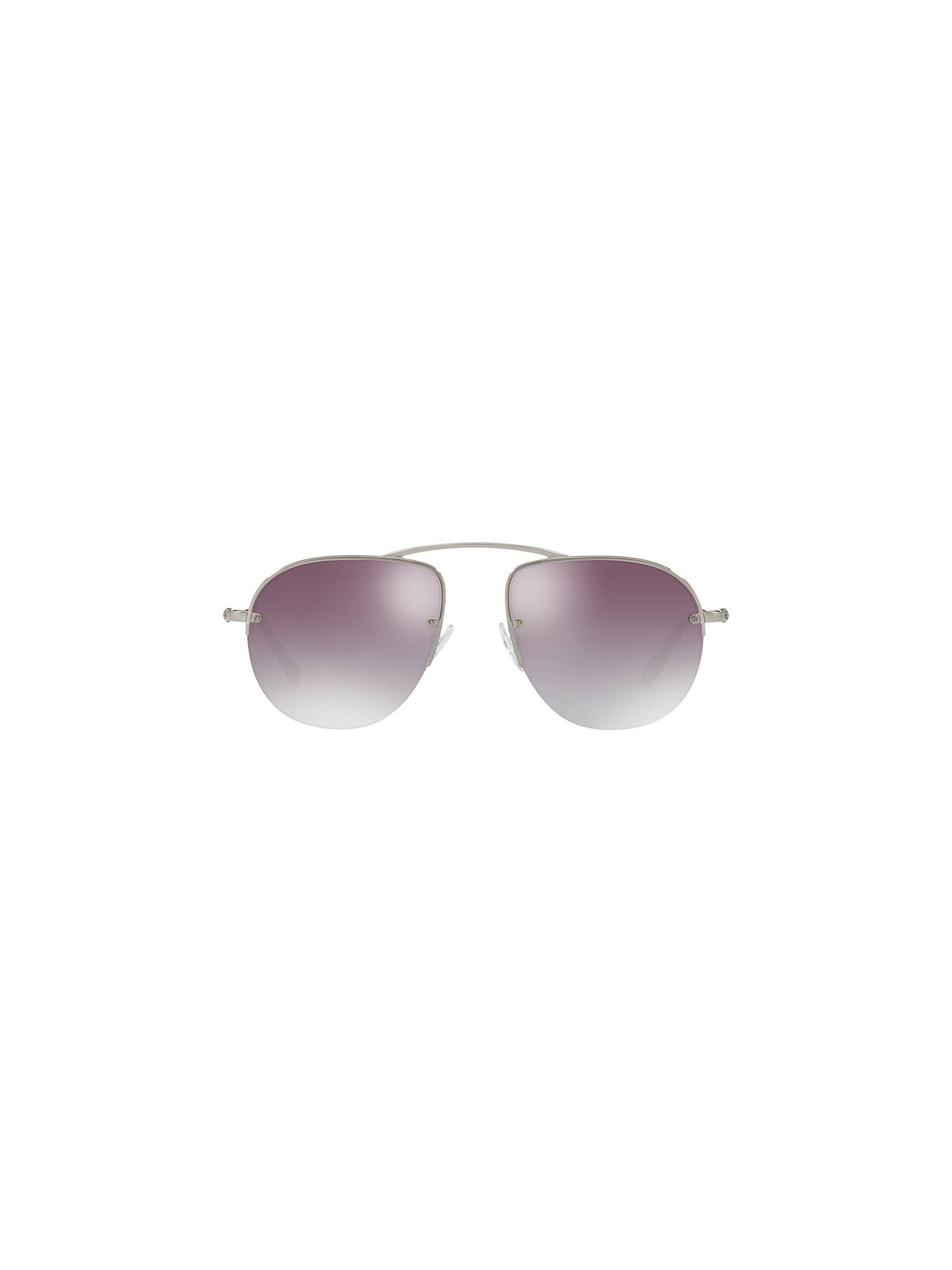 Buy Prada PR 58OS Aviator Sunglasses, Silver/Purple Gradient Online at johnlewis.com