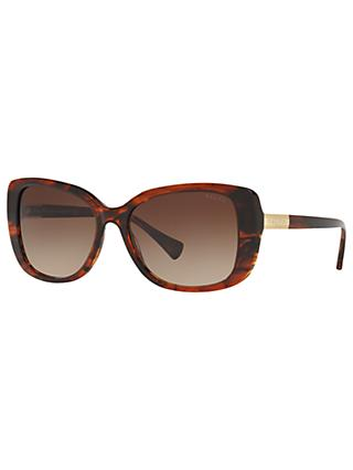 Ralph RA5223 Square Sunglasses, Tortoise/Brown Gradient