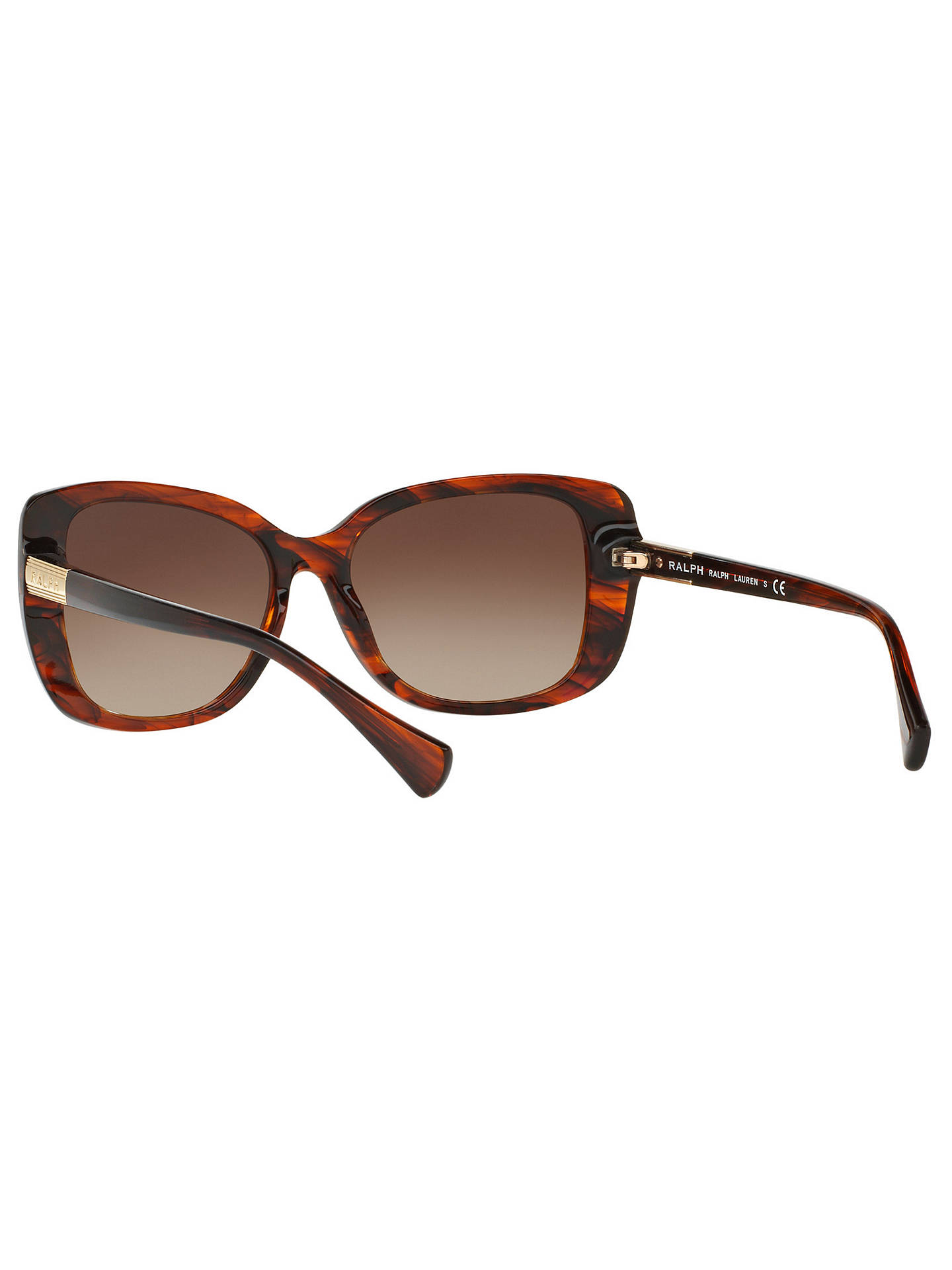 Buy Ralph RA5223 Square Sunglasses, Tortoise/Brown Gradient Online at johnlewis.com