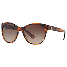 Buy Ralph Lauren RL8156 Cat's Eye Sunglasses, Havana/Brown Gradient Online at johnlewis.com