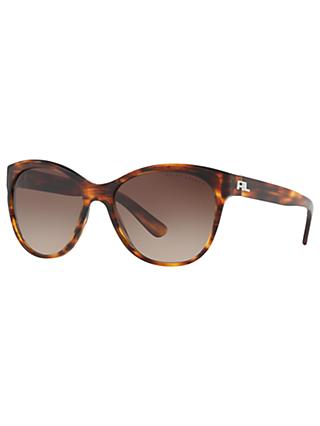 Ralph Lauren RL8156 Cat's Eye Sunglasses, Havana/Brown Gradient