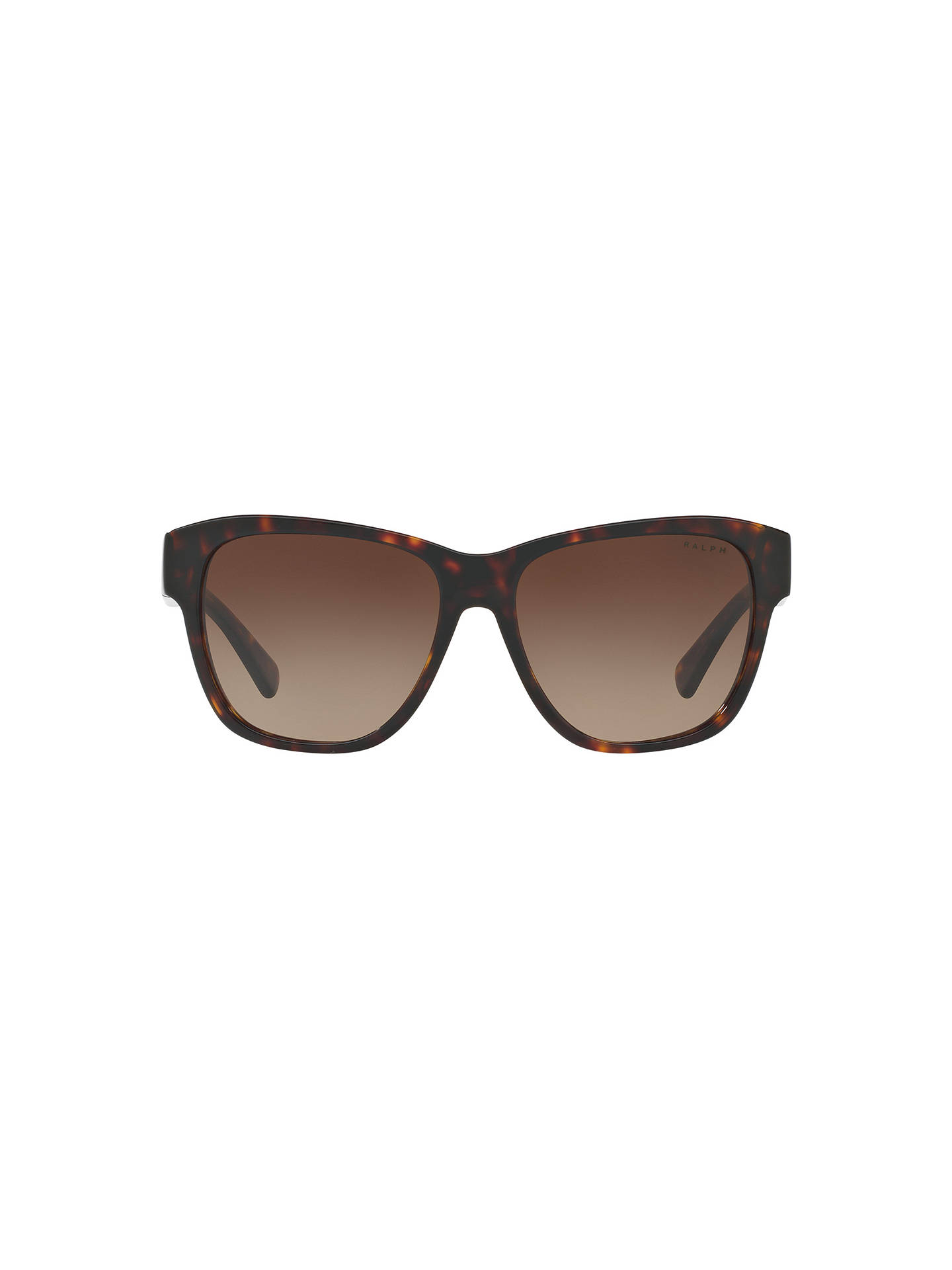 Buy Ralph RA5226 Square Sunglasses, Tortoise/Brown Gradient Online at johnlewis.com