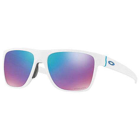 oakley crosshgenuine oakley sunglasses 1rfj  Buy Oakley OO9360 Crossrange XL Prizm Square Sunglasses, Matte White/Mirror  Purple Online at