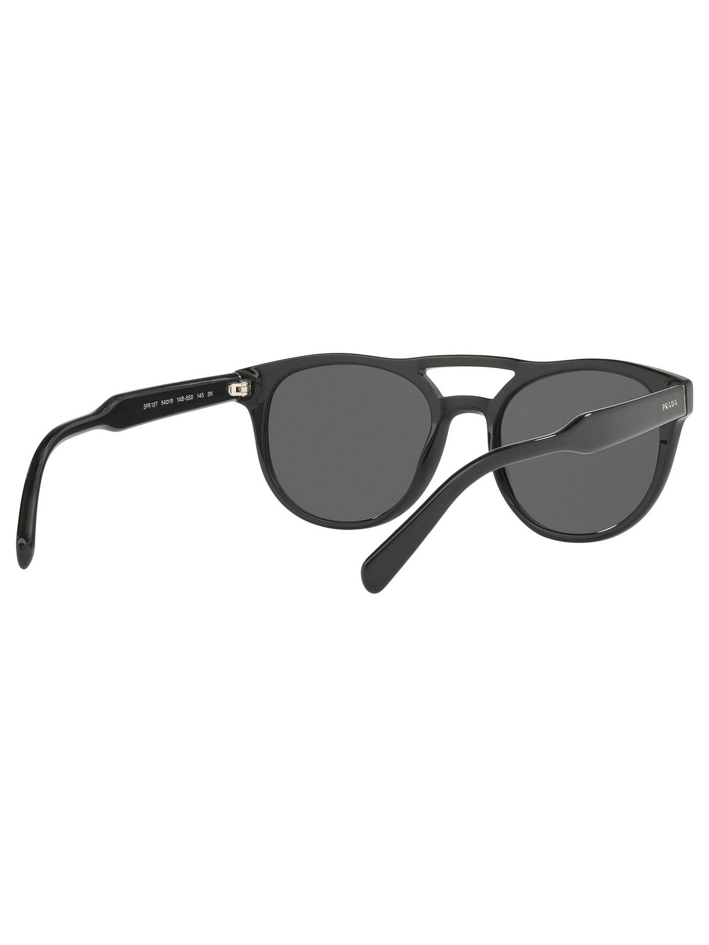 Buy Prada PR 13TS Double Bridge Oval Sunglasses, Matte Black/Grey Online at johnlewis.com
