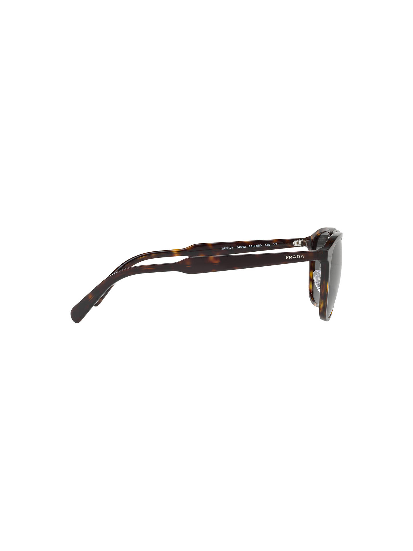 BuyPrada PR 12TS Square Sunglasses, Tortoise/Black Online at johnlewis.com