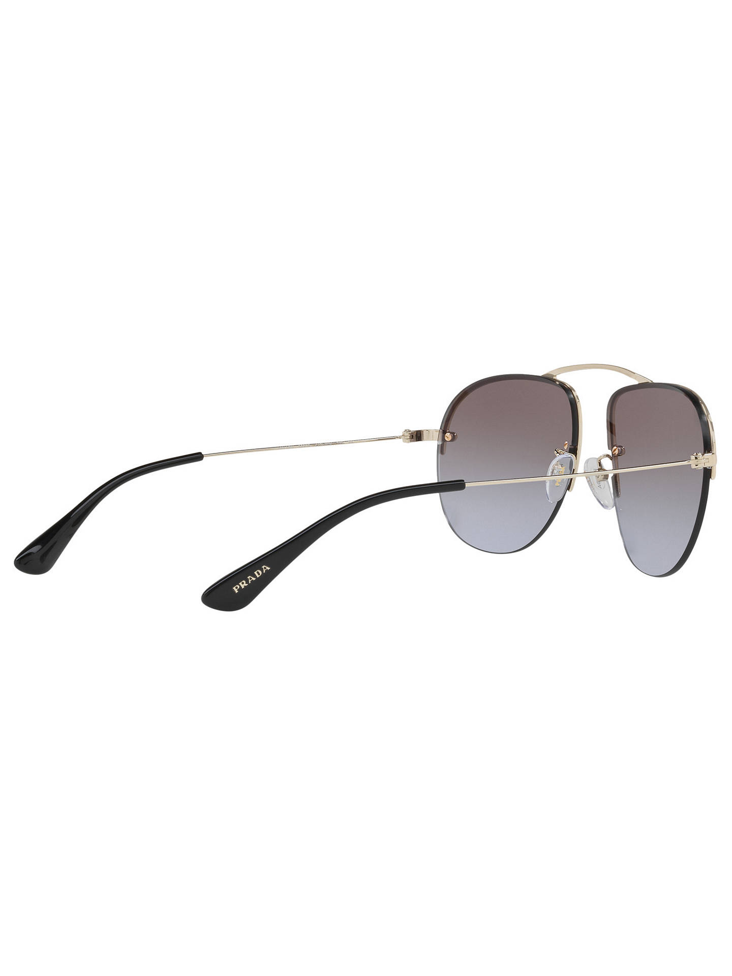 b1e3f05980f8 ... france buyprada pr 58os aviator sunglasses pale gold mirror violet  online at johnlewis aa0d9 3920e