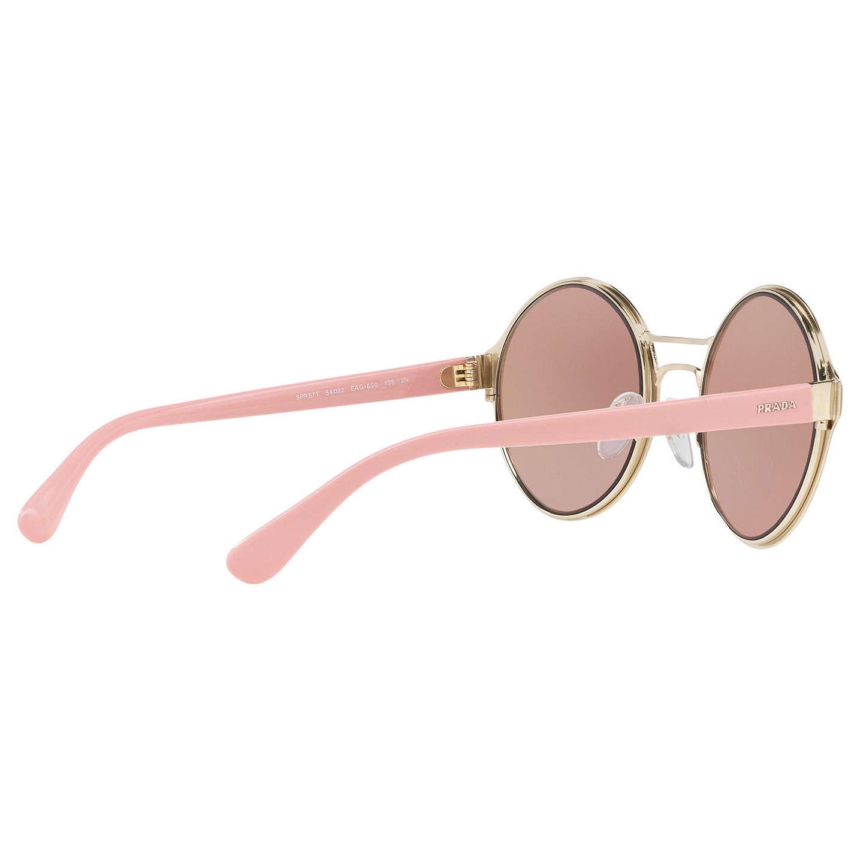 b76d4b47141 ... coupon for buyprada pr 57ts round sunglasses silver blush mirror orange  online at johnlewis c5d84 96f26 greece prada ...