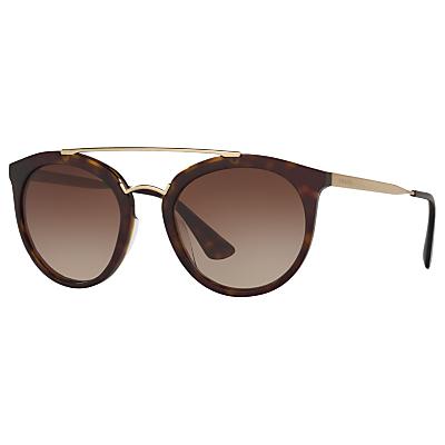 Prada PR 23SS Cinema Oval Sunglasses, Tortoise/Brown Gradient