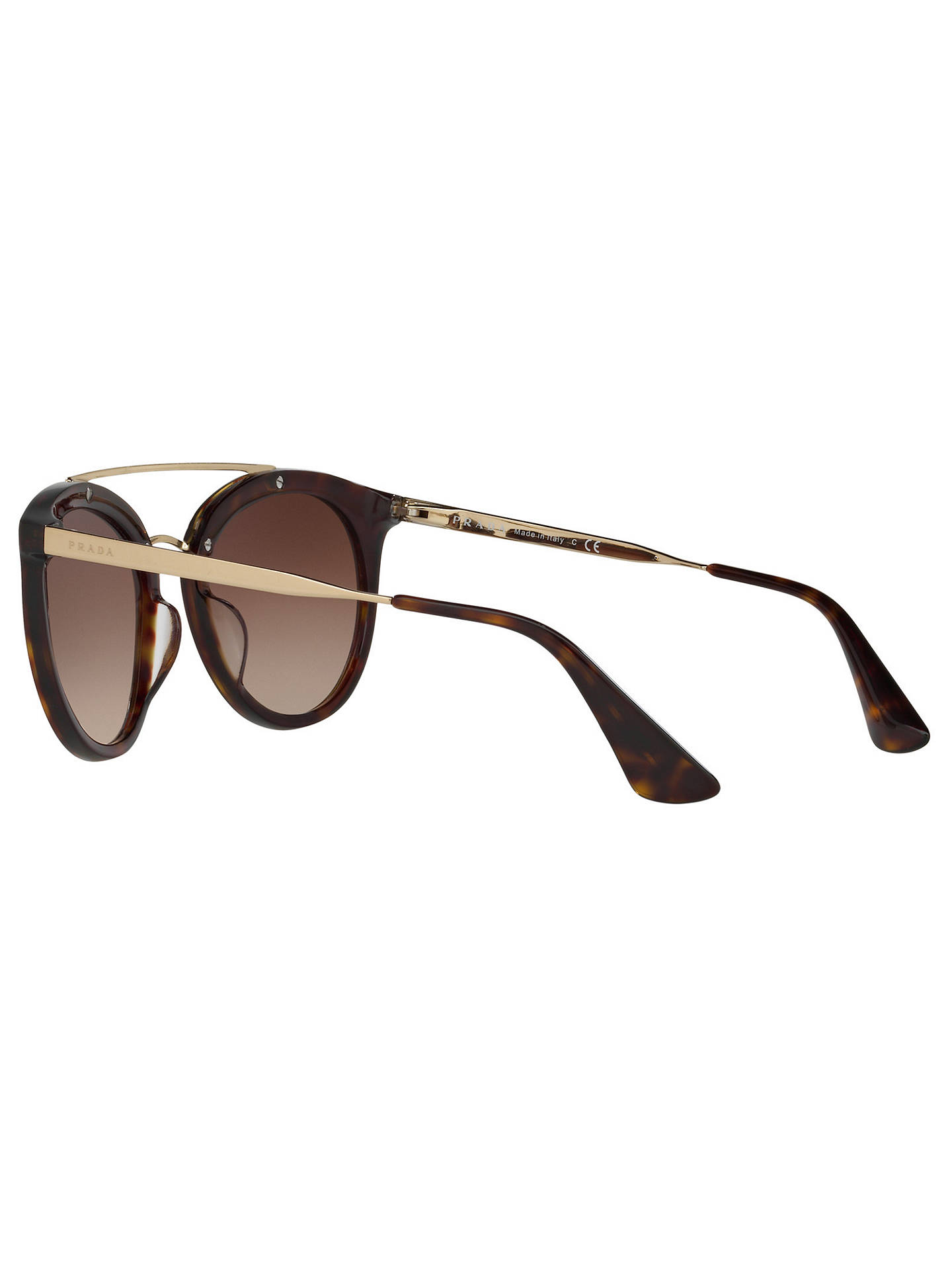 e077a50ee0 ... cheapest buyprada pr 23ss cinema oval sunglasses tortoise brown  gradient online at johnlewis 86c12 59a23