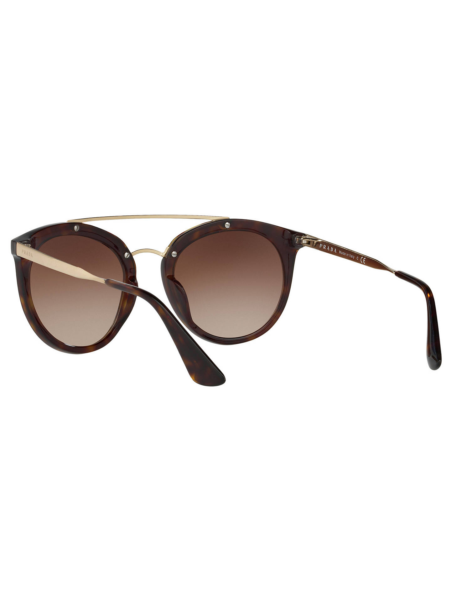 7dd587b4ad6c6 ... cheapest buyprada pr 23ss cinema oval sunglasses tortoise brown  gradient online at johnlewis d1289 22b60