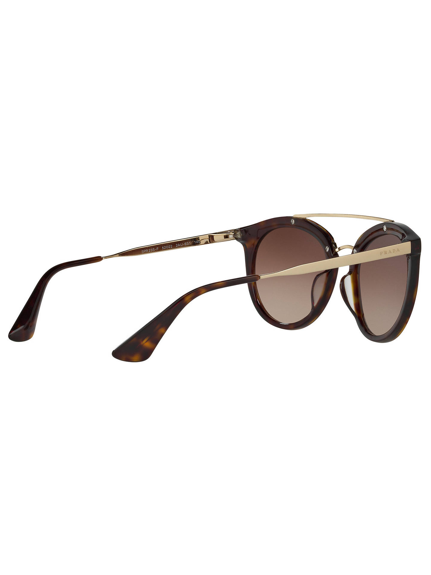 63139271bbb4 ... cheapest buyprada pr 23ss cinema oval sunglasses tortoise brown  gradient online at johnlewis 70cf2 040ee italy prada ...