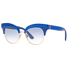 Buy Dolce & Gabbana DG6109 Cat's Eye Sunglasses, Blue Online at johnlewis.com