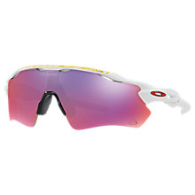 Buy Oakley OO9208 Radar EV Path Wrap Sunglasses, Polished White/Mirror Purple Online at johnlewis.com