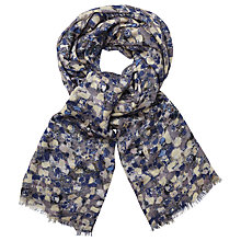 Buy John Lewis Brushstroke Motif Scarf, Blue Mix Online at johnlewis.com