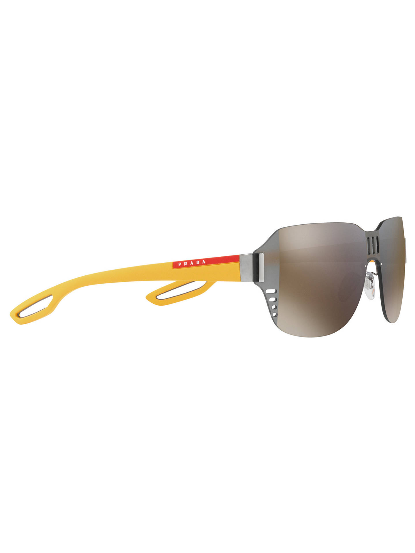 91129f52a419 ... hot buyprada linea rossa ps 05ss square sunglasses yellow mirror brown  online at johnlewis. 9a6c3