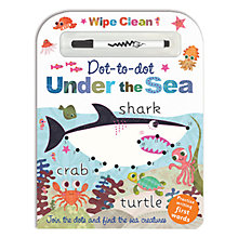Buy Under the Sea Wipe Clean Dot To Dot Children's Book Online at johnlewis.com