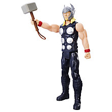 "Buy Marvel Titan Hero Series 12"" Thor Action Figure Online at johnlewis.com"