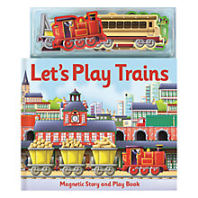 Buy Let's Play Trains Magnetic Children's Book Online at johnlewis.com