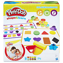 Buy Play-Doh Shape and Learn Colours and Shapes Set Online at johnlewis.com