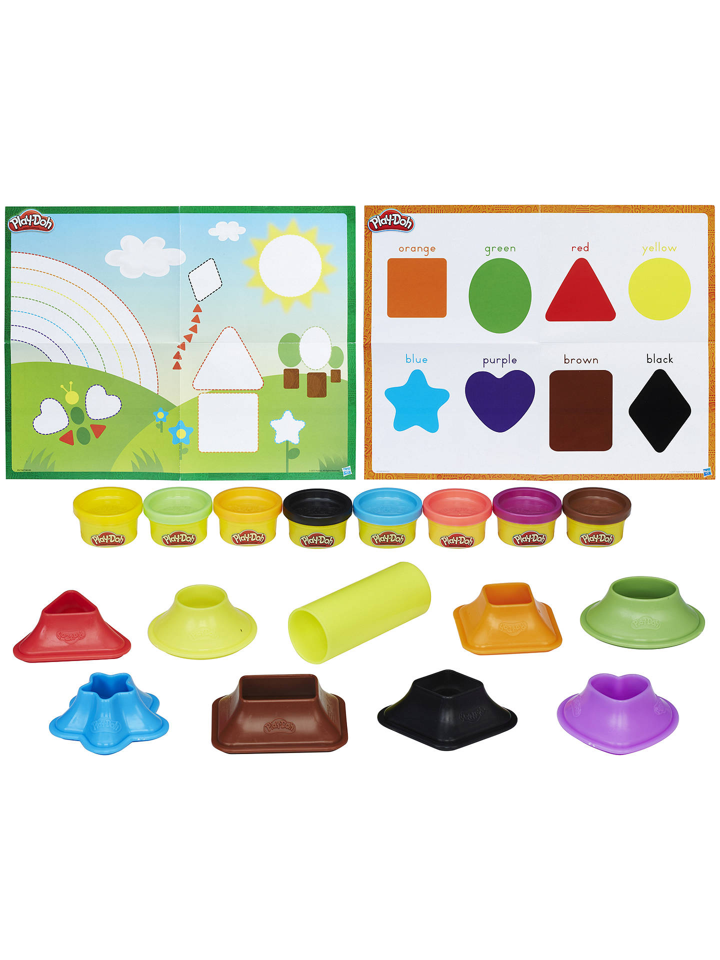 BuyPlay-Doh Shape and Learn Colours and Shapes Set Online at johnlewis.com