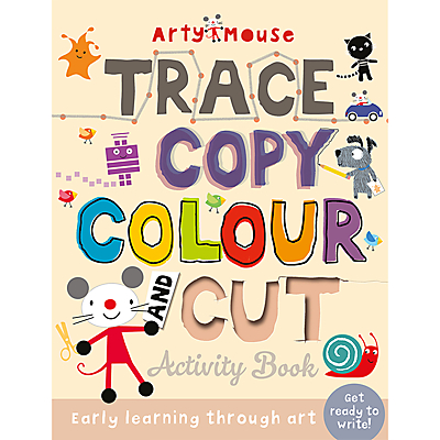 Image of Arty Mouse Trace Copy Cut Children's Activity Book