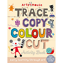 Buy Arty Mouse Trace Copy Cut Children's Activity Book Online at johnlewis.com