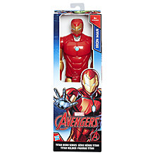 "Buy Marvel Titan Hero Series 12"" Iron Man Action Figure Online at johnlewis.com"