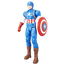 "Buy Marvel Titan Hero Series 12"" Captain America Action Figure Online at johnlewis.com"