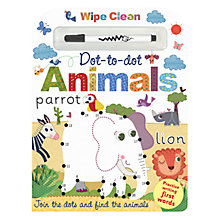Buy Animals Wipe Clean Dot To Dot Children's Book Online at johnlewis.com