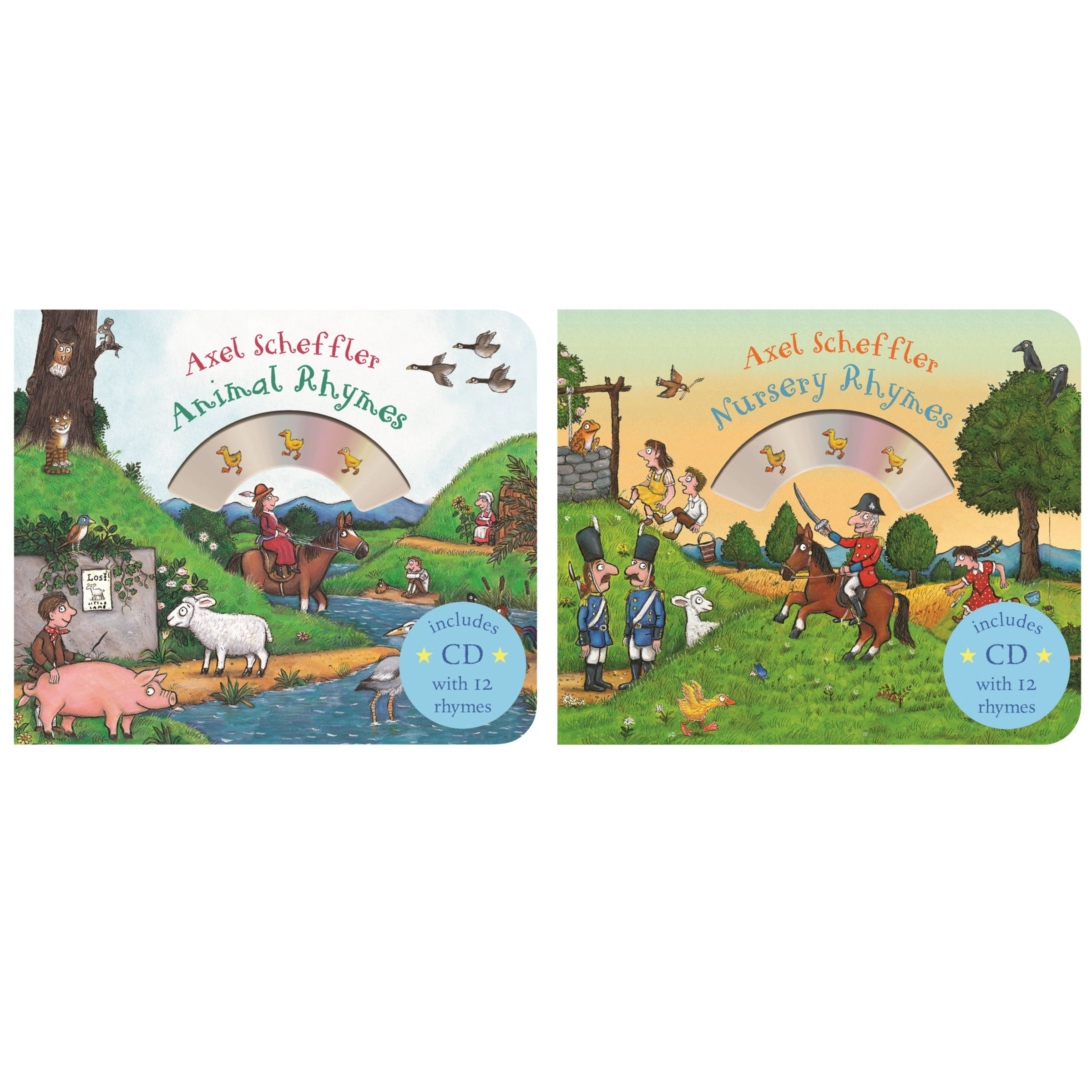 Macmillan Nursery Rhymes/Animal Rhymes Children's Books with CDs
