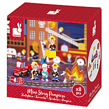 Buy Janod Mini Story Firemen Play Set Online at johnlewis.com