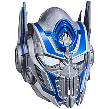 Buy Transformers: The Last Knight Optimus Prime Voice Changer Mask Online at johnlewis.com
